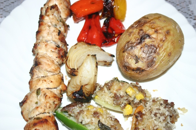Finished Kabob Dish