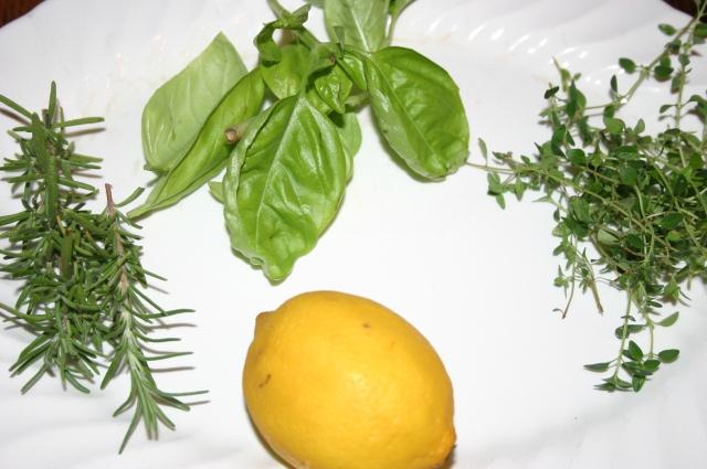 herbs/lemon