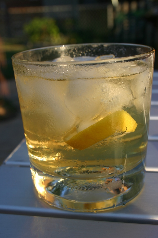 Bourbon & Water with Lemon