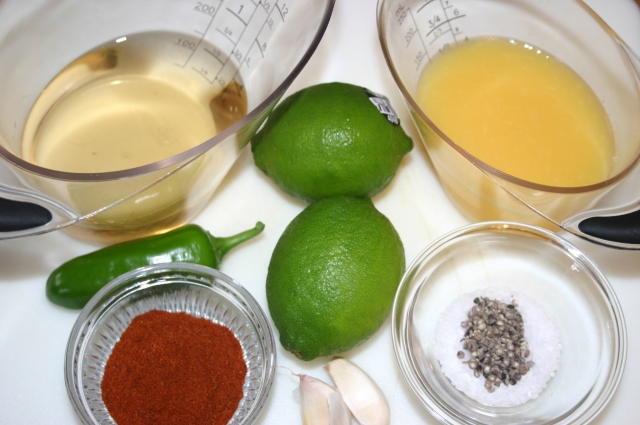 Tequila Lime Ingredients