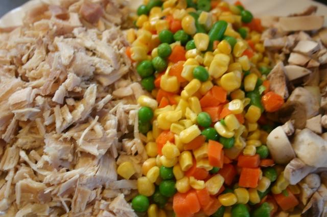 mixed veggies n turkey