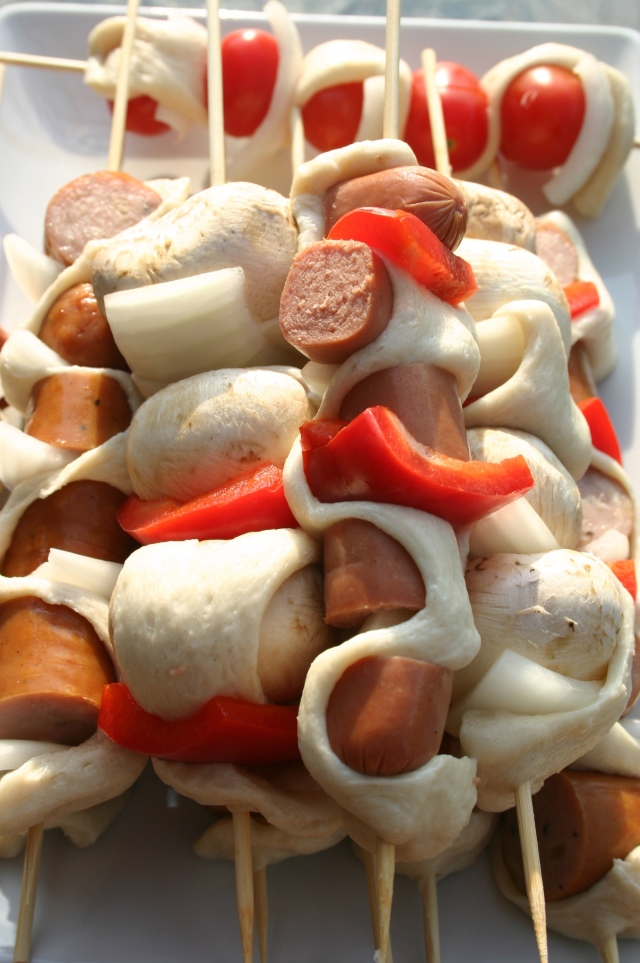 dough ribbon skewers