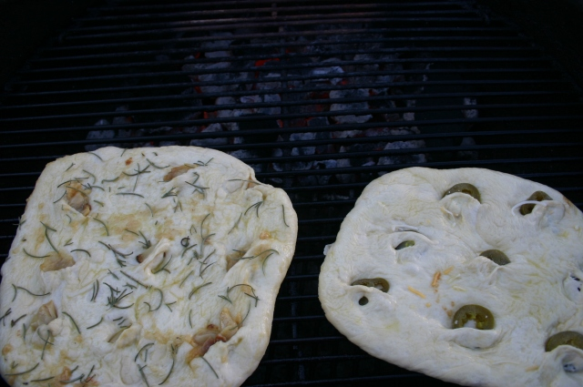 Bread on the grill
