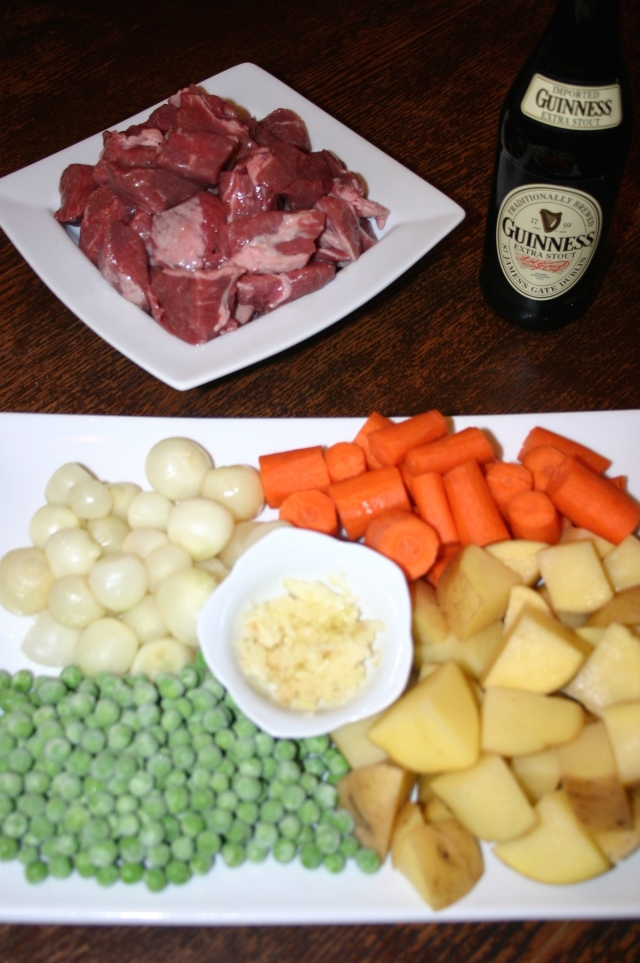 Fresh stew ingredients