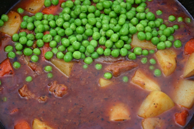 Peas added